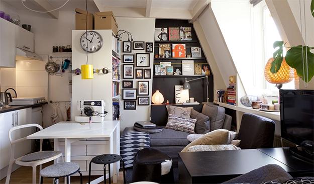 como morar bem em 30m casinha arrumada. Black Bedroom Furniture Sets. Home Design Ideas
