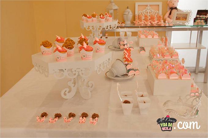 Extremamente Decoração de chá de bebê: tons de rosa e salmão - Casinha Arrumada UX45