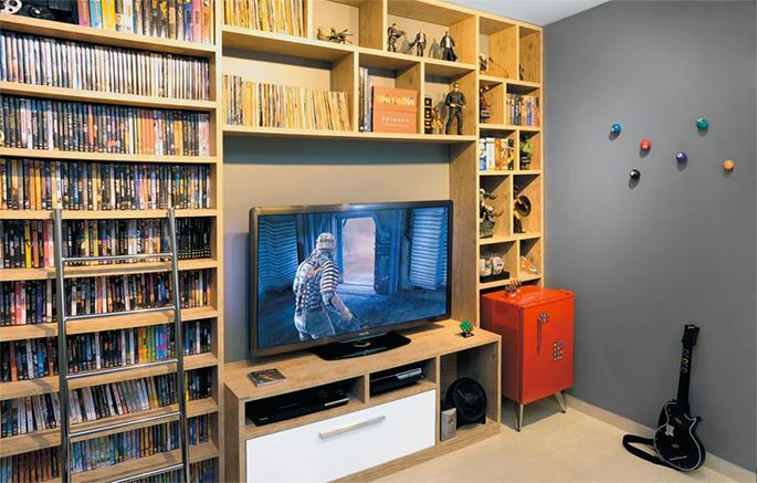decoracao kitnet jovem : decoracao kitnet jovem: de 72 m² com decoração jovem e alegre – Casinha Arrumada