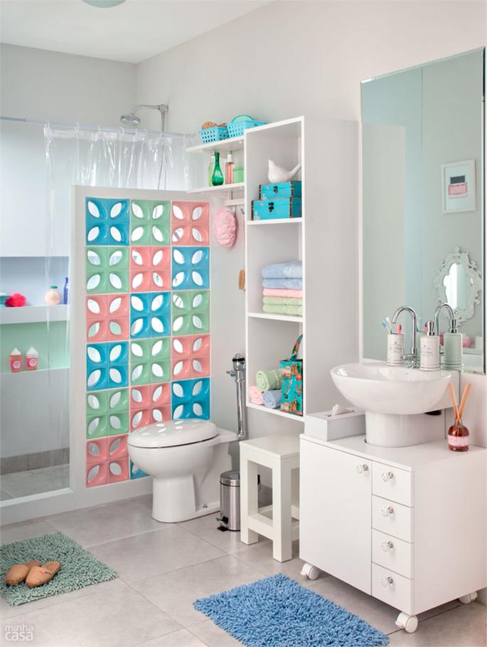 Um banheiro decorado para toda a família  Casinha Arrumada -> Decoracao Banheiro Atual
