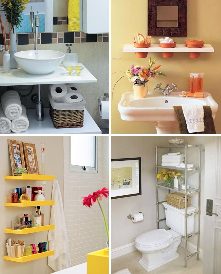 Solu es de decora o para banheiros pequenos 24 modelos - Como organizar un armario pequeno ...