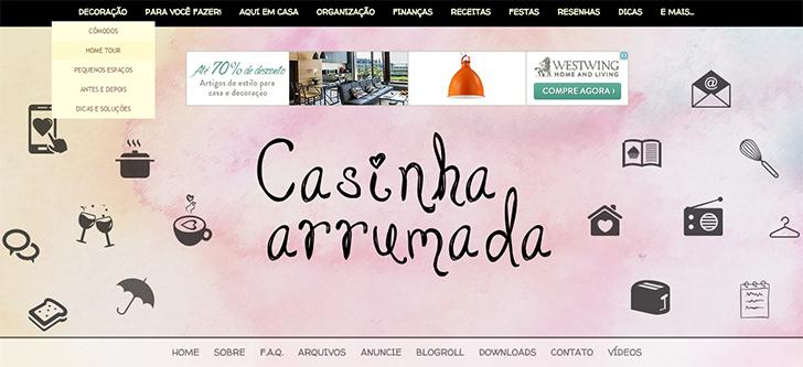 Casinha Arrumada - header e menu
