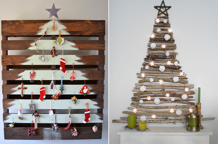 árvores de natal no estilo faça você mesma 1