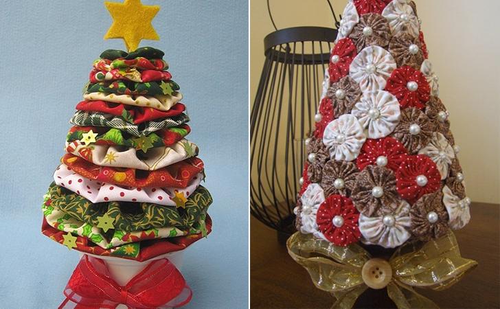 árvores de natal no estilo faça você mesma 2