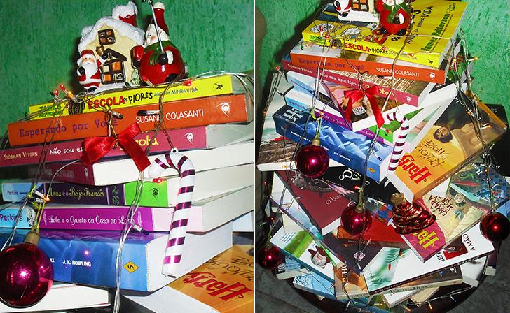 decoracao de arvore de natal simples e barata:Árvores de Natal criativas que você mesma pode fazer! – Casinha