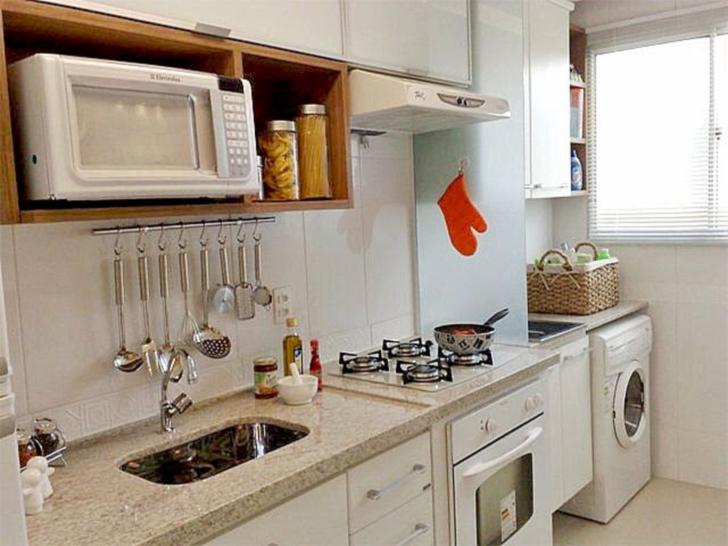 Como decorar cozinhas pequenas do tipo corredor casinha for Cocinas pequenas con lavanderia