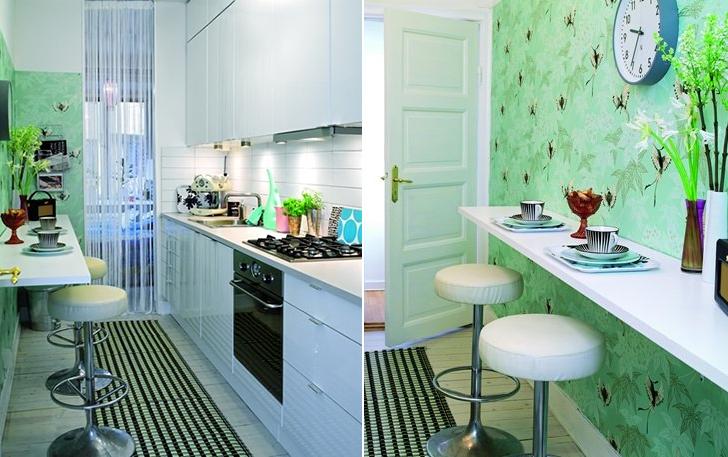 cozinhas pequenas do tipo corredor