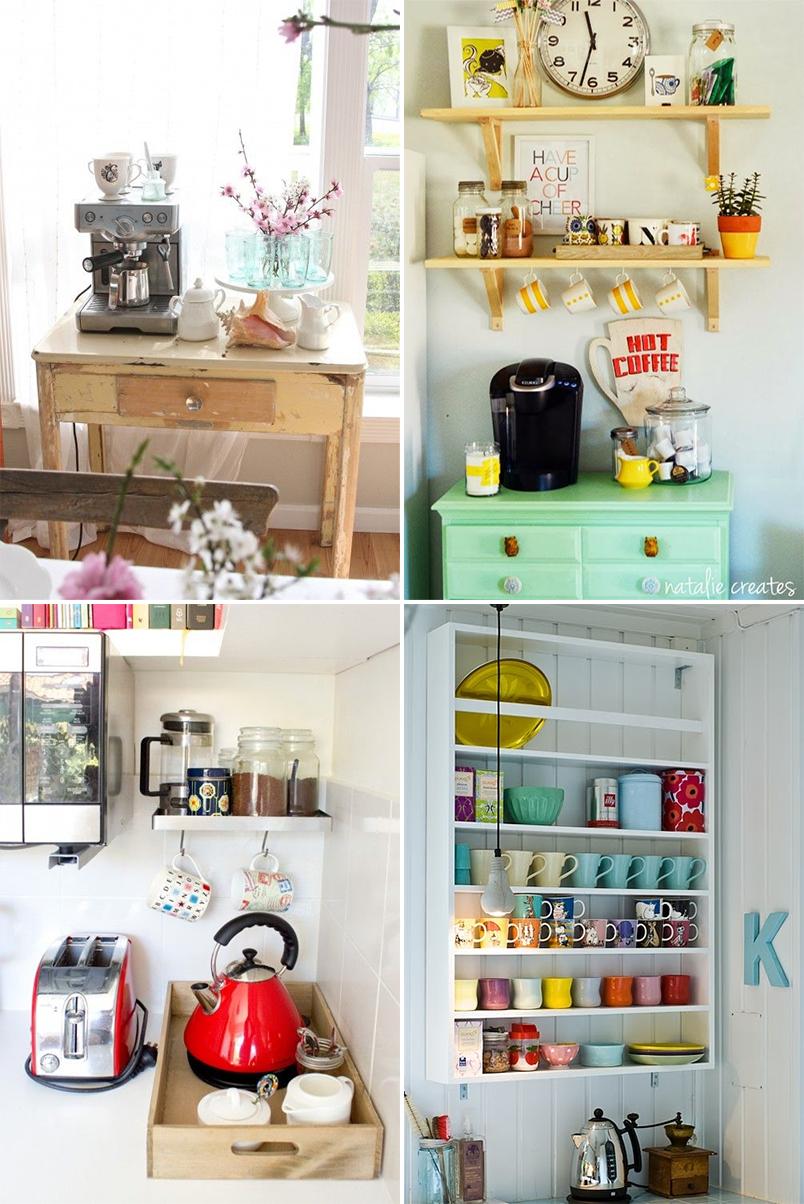 Dicas E Inspira Es Para Organizar O Cantinho Do Caf Em Casa  -> Cozinha Americana Com Sala Como Fazer Em Um Comodo