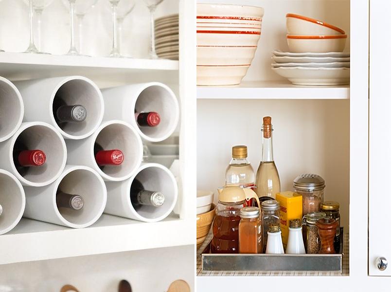 Organize cada cômodo #1 ideias para organizar a cozinha  Casinha Arrumada # Como Arrumar O Armario De Cozinha