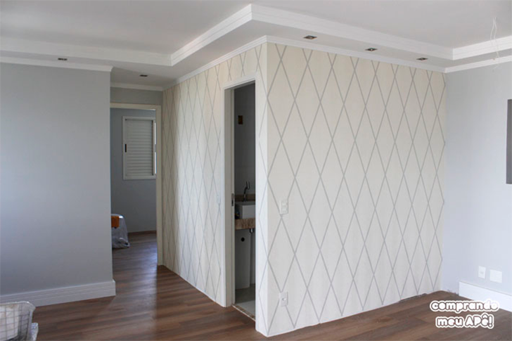 papel de parede na sala 1