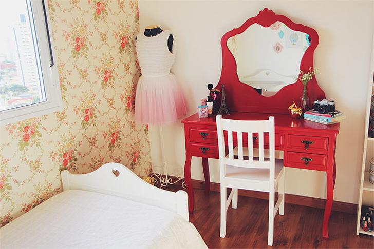 Papel de parede onde usar, como instalar, como limpar e  ~ Quarto Solteiro Feminino Vintage