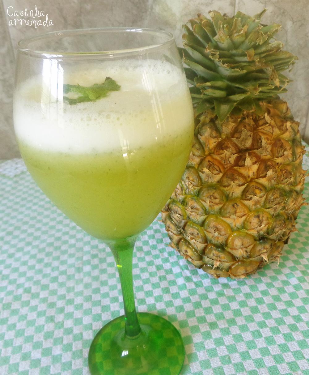 suco abacaxi, hortelã e gengibre 3