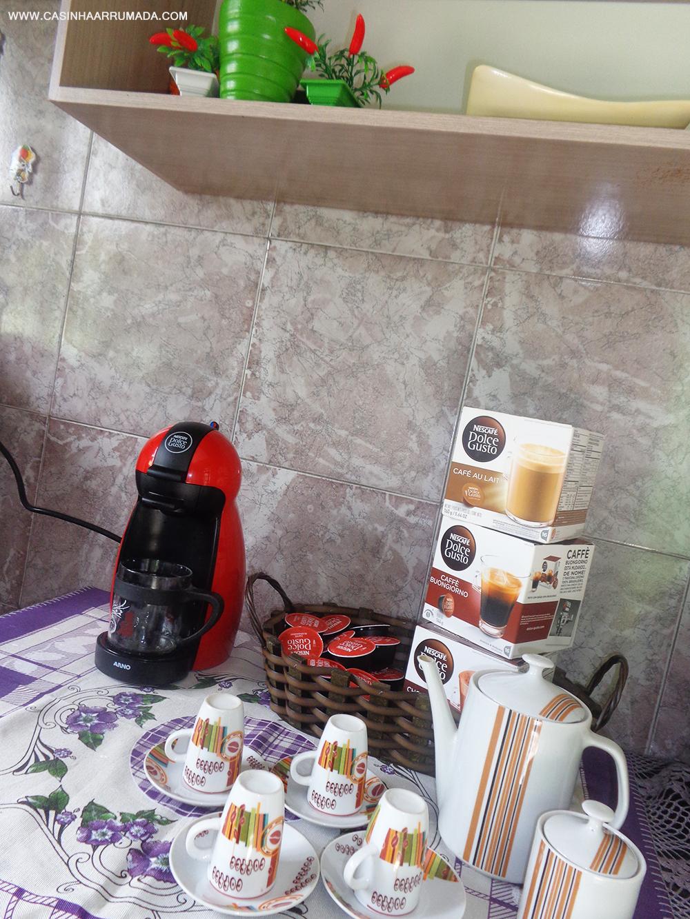 Cantinho do Café em casa + minha cafeteira Dolce Gusto 3