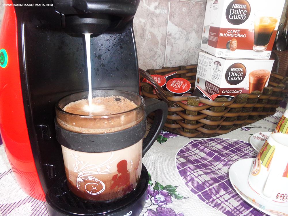 Cantinho do Café em casa + minha cafeteira Dolce Gusto 5