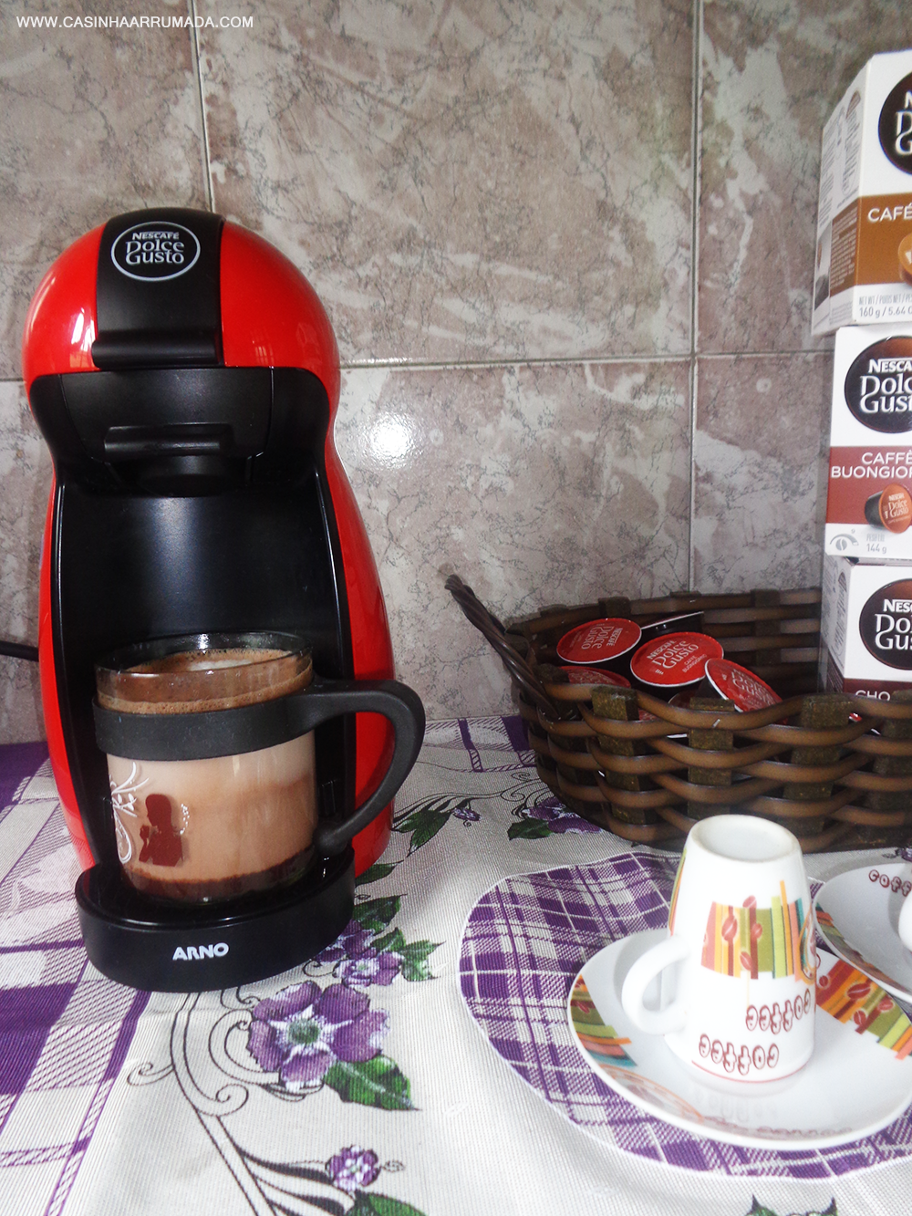 Cantinho do Café em casa + minha cafeteira Dolce Gusto 6