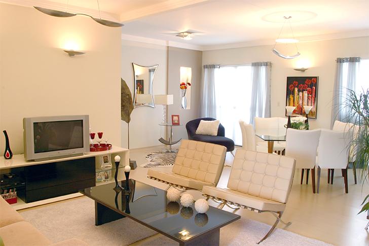 Salas De Estar E Jantar Quadradas ~ Veja mais dicas de decoração acessando a categoria DECORAÇÃO aqui