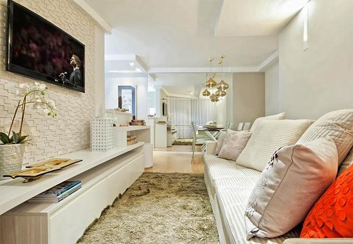 Salas de estar e jantar integradas 20 fotos para voc u00ea se inspirar na decoraç u00e3o Casinha Arrumada -> Decoração De Sala De Jantar E Estar No Mesmo Ambiente
