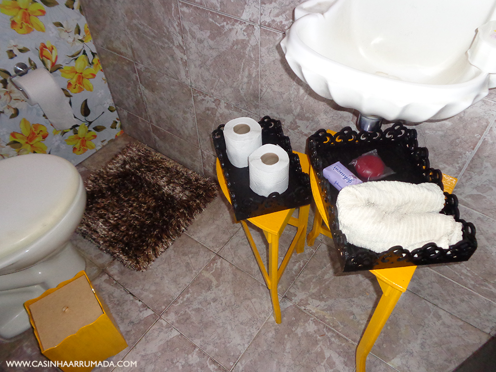 decoracao de lavabo para o natal:Como decorar gastando pouco – O nosso lavabo – Casinha Arrumada