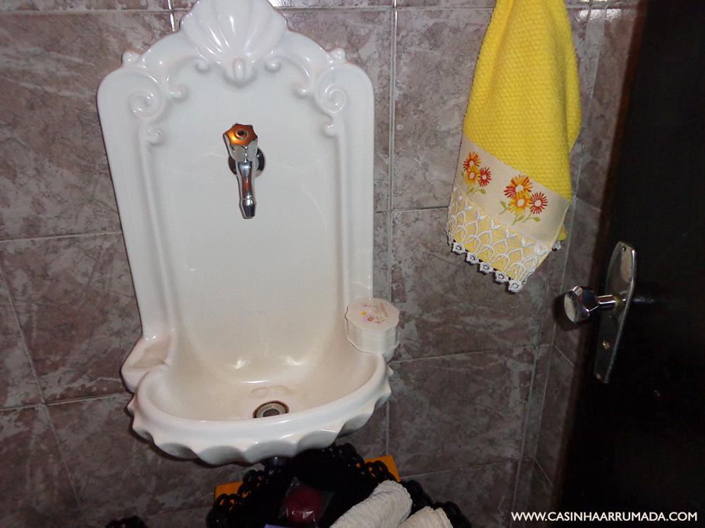 decorar o lavabo : decorar o lavabo:Como decorar gastando pouco – O nosso lavabo – Casinha Arrumada