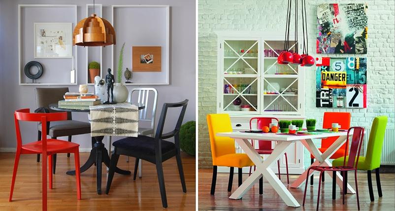 cadeiras diferentes sala de jantar 3