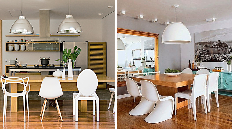 cadeiras diferentes sala de jantar 9