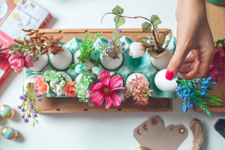 ideias criativas para decorar a mesa para a Páscoa 2