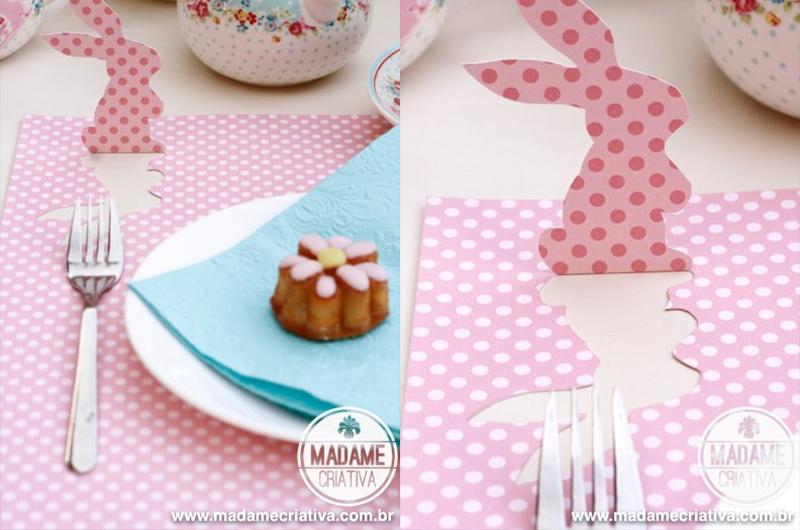 ideias criativas para decorar a mesa para a Páscoa 9