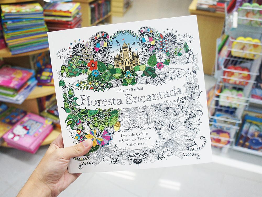 livros de colorir para adultos floresta encantada