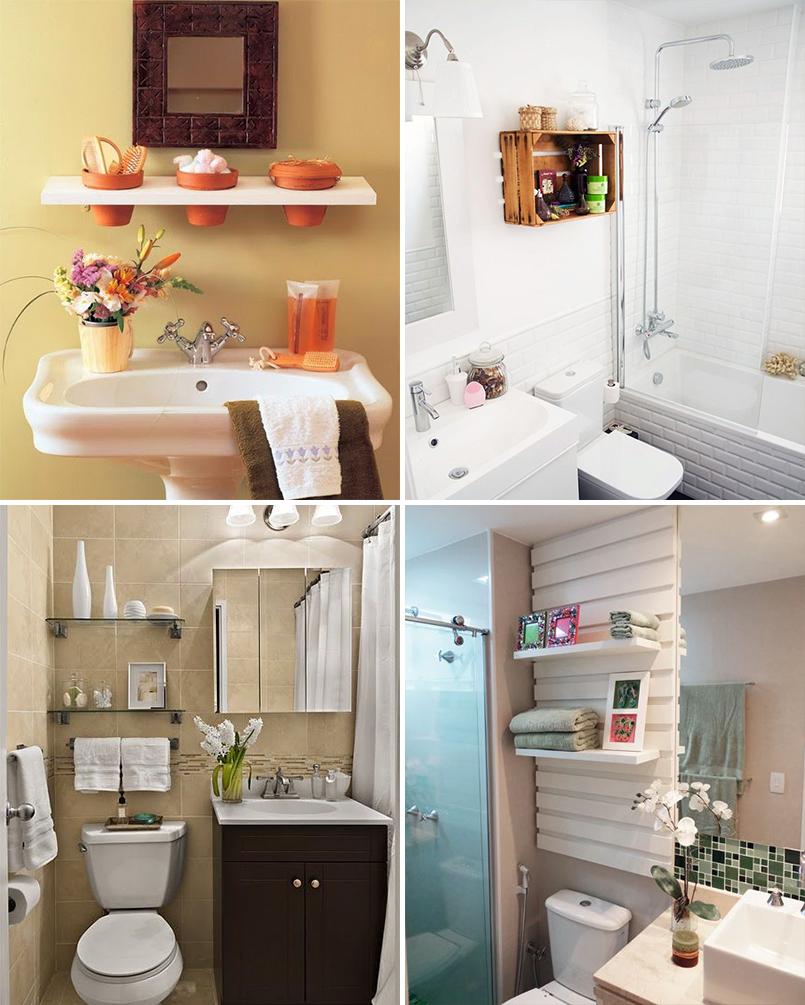 Organize cada cômodo #2 ideias para organizar o banheiro  Casinha Arrumada -> Banheiro Decorado Com Material Reciclavel