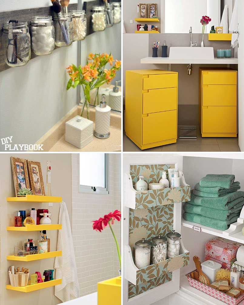 Organize cada cômodo #2 ideias para organizar o banheiro  Casinha Arrumada -> Ideias Para Armario De Banheiro