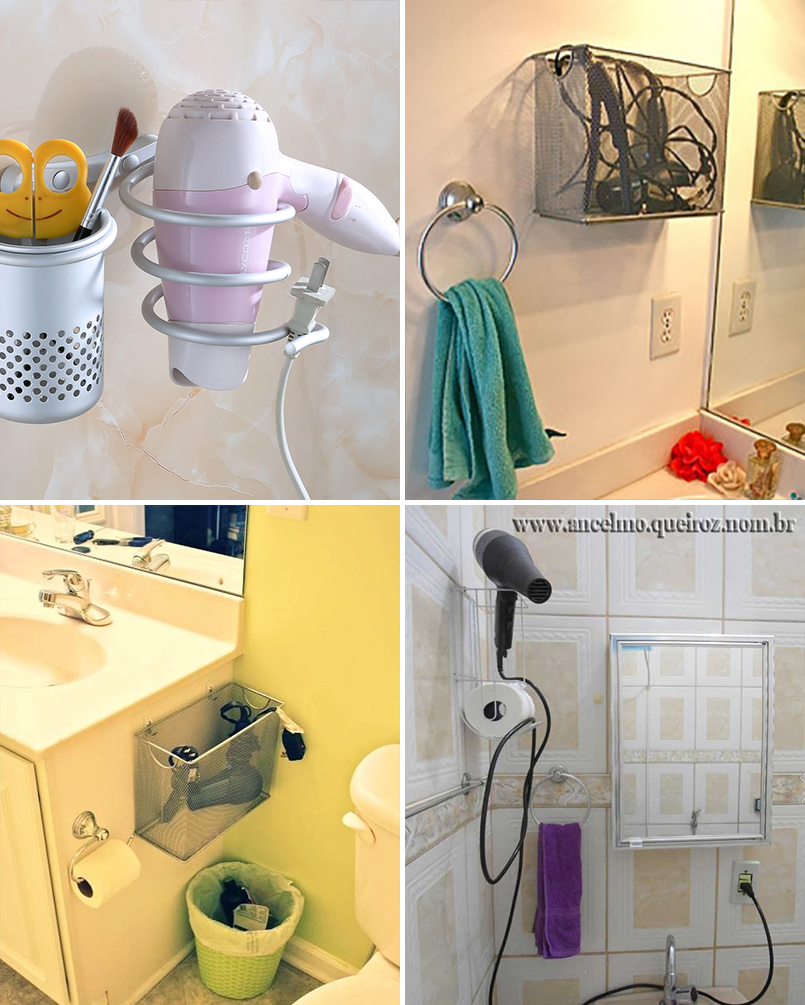 Organize cada c modo 2 ideias para organizar o banheiro - Cestas para armarios ...