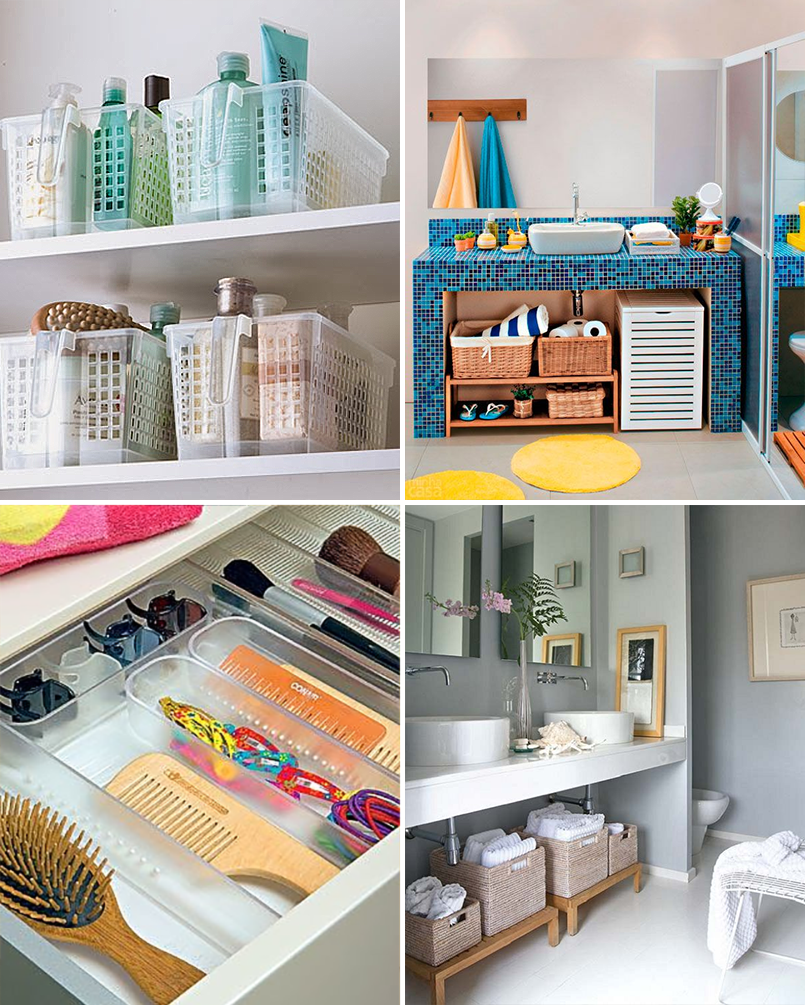 Como organizar o banheiro ideias para transformar o - Organizadores de armario ...