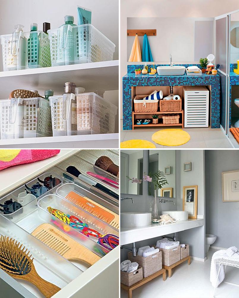 Ideias para organizar o banheiro blog apolar - Como organizar armarios ...