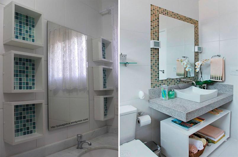 Como usar pastilhas na decoração  Casinha Arrumada -> Dicas De Decoracao De Banheiro Com Pastilhas