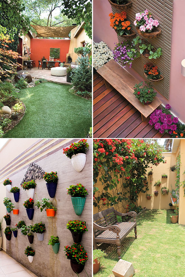 áreas de lazer Se sobrar espaço, você pode criar um pequeno jardim