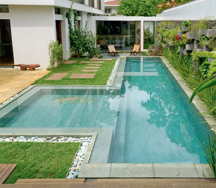 como decorar a área de lazer 7 - piscina