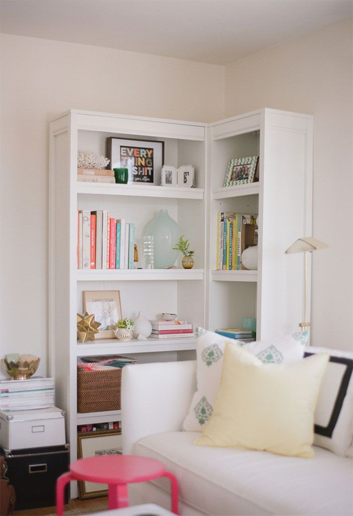 como organizar e decorar a estante 6