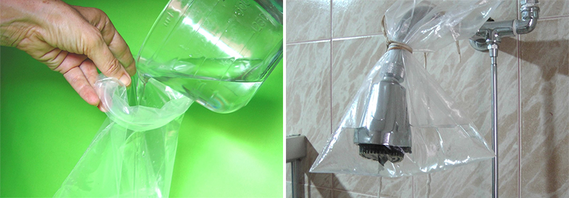 limpar chuveiro com vinagre