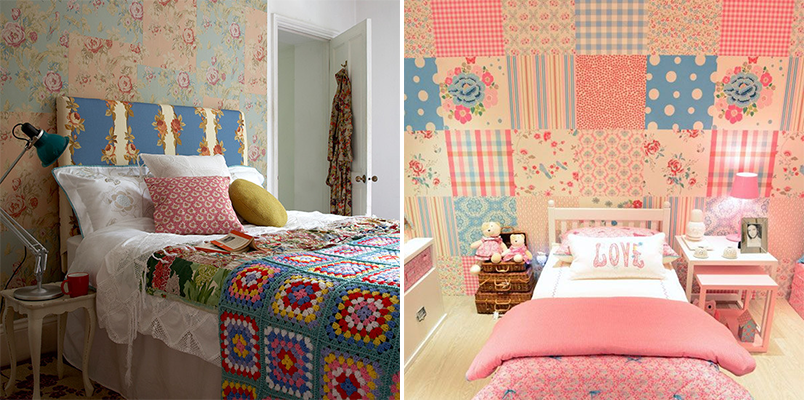 patchwork na decoração 2 - parede de patchwork