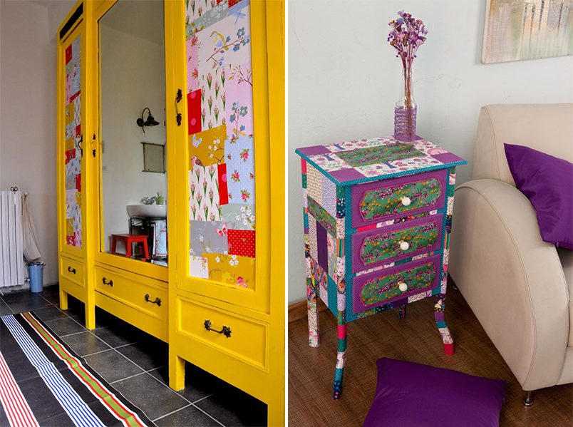 patchwork na decoração 5 - móveis de patchwork