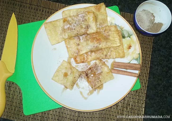 Receita de pastel doce recheado com banana 2