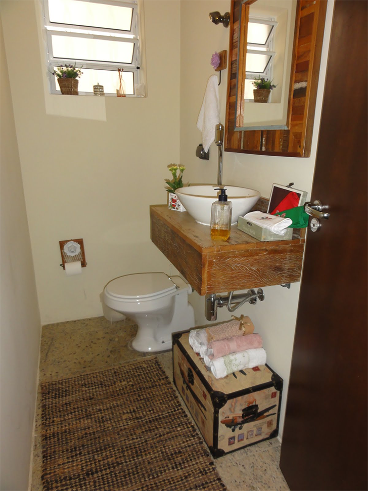 Como decorar lavabos pequenos 15 modelos inspiradores  Casinha Arrumada -> Decoracao De Banheiros E Lavabos Pequenos
