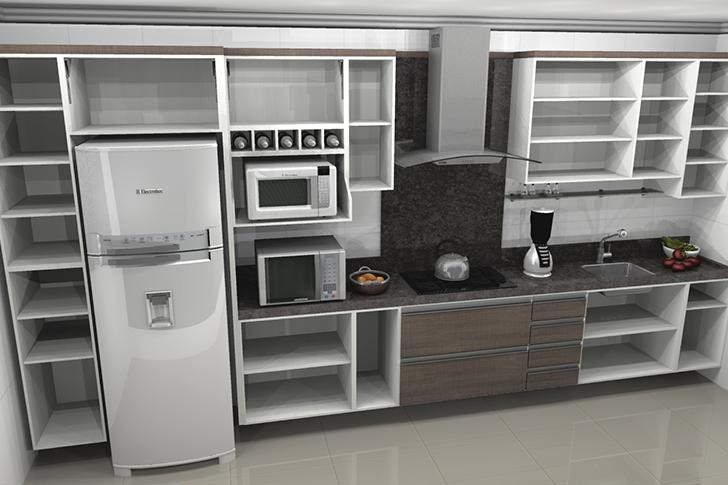 cozinha planejada ver por dentro dos armários