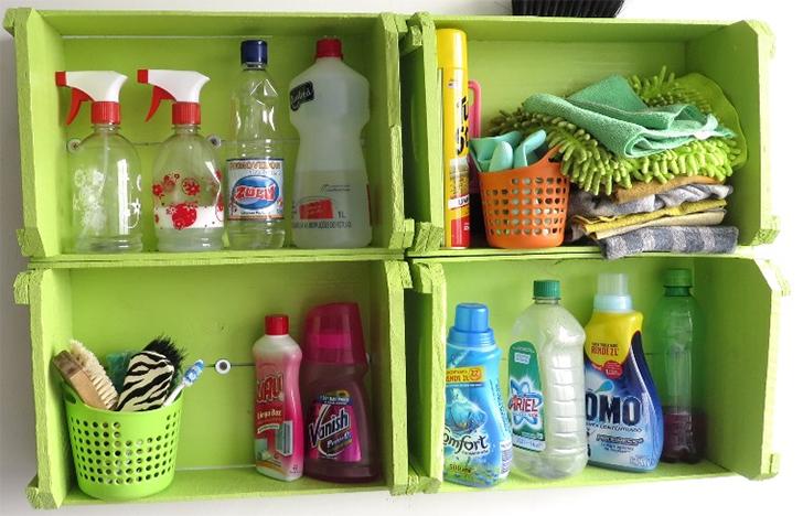 10 maneira de organizar a casa usando caixotes de feira 6