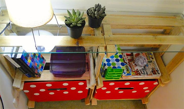 10 maneira de organizar a casa usando caixotes de feira 7