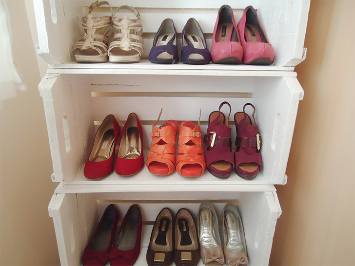 10 maneira de organizar a casa usando caixotes de feira 8