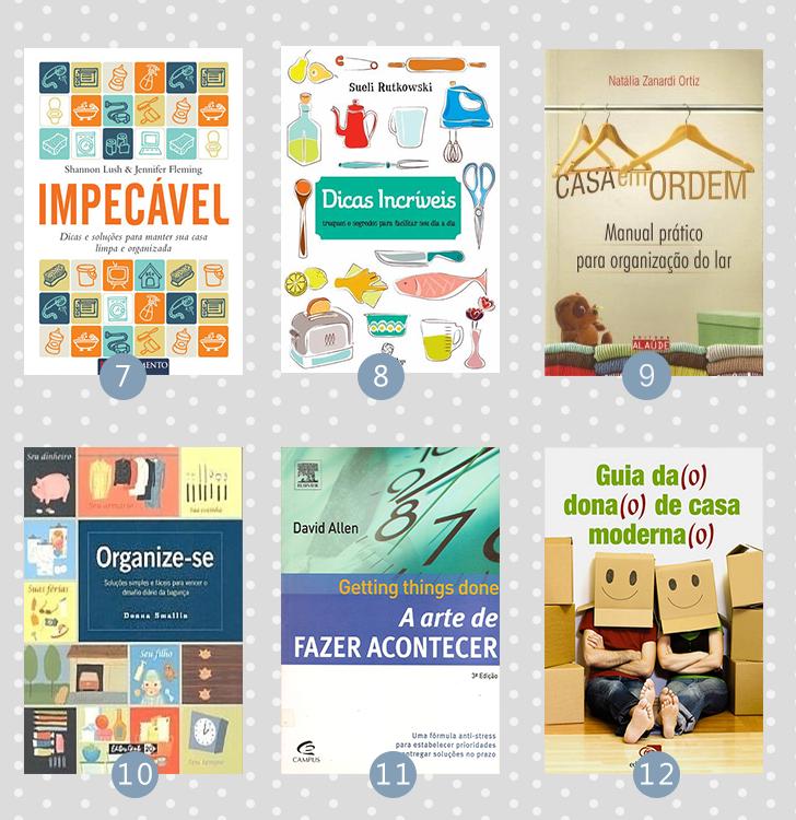 12 livros sobre organização (pessoal e da casa) 2