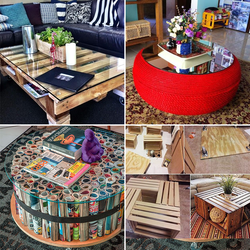 como decorar mesa de centro 5 mesas de centro feitas com materiais reciclados