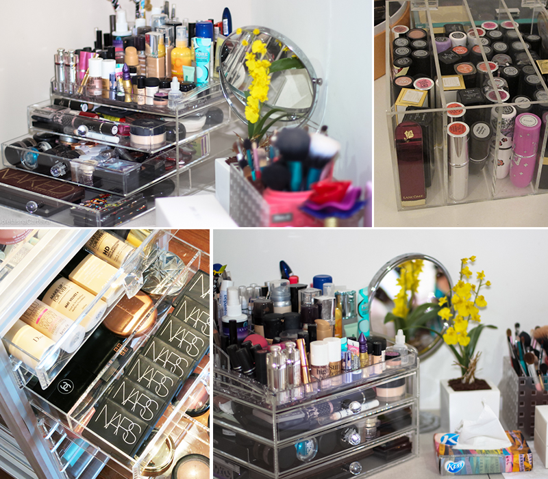 como organizar maquiagens e cosméticos 2