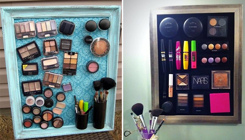 como organizar maquiagens e cosméticos 4